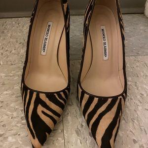 Gorgeous zebra MANOLO BLAHNIK heels 37